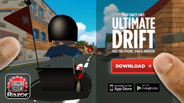 Razor Crazy Cart: Ultimate Drift — The free Crazy Cart game for iPhone, iPad and Android