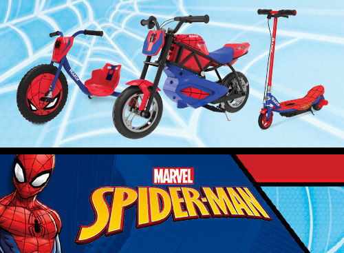 Razor Spider-Man — Superhero-Inspired Rides